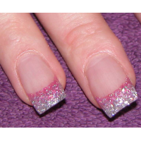 Cool Pink Glitter Nail Design Ideas