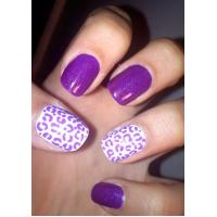 Flashy Purple Nail Designs